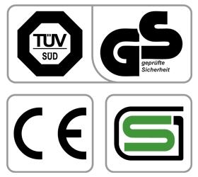 OXYGEN ELC Эллиптический тренажер - Обязательные сертификаты: европейский CE, немецкий GS TUV, японский SG