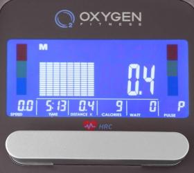 OXYGEN GX-75 HRC Эллиптический эргометр - Цветной LCD дисплей диагональю 14 см.