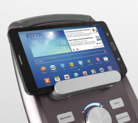OXYGEN GX-75 HRC Эллиптический эргометр - Подставка под планшет или смартфон