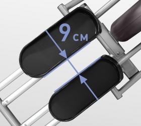 OXYGEN GX-75 HRC Эллиптический эргометр - Расстояние между педалями 9 см