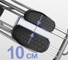 BRONZE GYM XR812 LC Эллиптический эргометр - Супермалый Q-Фактор E.S.Q.F™ 10 см