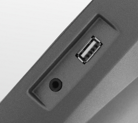 BRONZE GYM XR812 LC Эллиптический эргометр - Разъемы AUX IN  и USB
