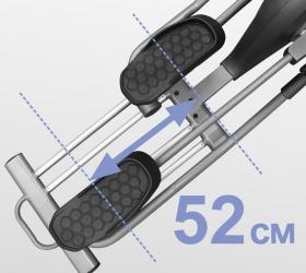 BRONZE GYM X802 LC Эллиптический эргометр - Длина шага равна 52 см.