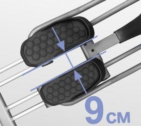 BRONZE GYM X802 LC Эллиптический эргометр - Расстояние между педалями составляет всего 9 см. (супермалый Q-Фактор E.S.Q.F™)