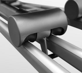 BRONZE GYM X802 LC Эллиптический эргометр - Сдвоенные полиуретановые ролики