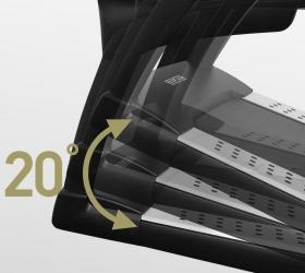 BRONZE GYM T1120 PRO Беговая дорожка - Автоматически изменяемый угол наклона от 0 до 20%