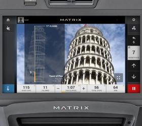 MATRIX S7XE (S7XE-04) Степпер - Уникальная программа Landmarks - виртуальное восхождение на знаменитые мировые здания, сооружения и небоскребы