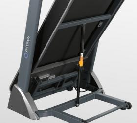 OXYGEN TECHNO T10 Беговая дорожка - Гидравлическая система складывания safeFOLD™ значительно облегчает складывание и раскладывание дорожки