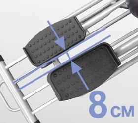 OXYGEN EX-56 HRC Эллиптический тренажер - Расстояние между педалями 8 см