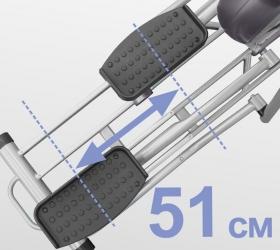 OXYGEN EX-56 HRC Эллиптический тренажер - Длина шага 51 см