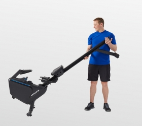 HORIZON OXFORD 6 Гребной тренажер - Удобное перемещение тренажера благодаря встроенным полиуретановым роликам