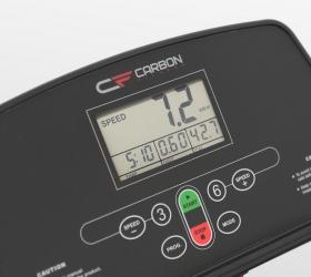 CARBON FITNESS T200 SLIM Беговая дорожка - Информативный черно-белый LED-дисплей диагональю 2,9 дюйма (7,3 см)