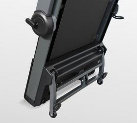 OXYGEN T-COMPACT B Беговая дорожка - Опора, автоматически регулирующая необходимый угол для установки тренажера в вертикальное положение сразу после завершения тренировки