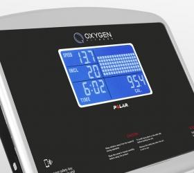 OXYGEN FITNESS NEW CLASSIC AURUM AC LCD Беговая дорожка - 7 дюймовый (17,5 см) голубой многофункциональный LCD дисплей