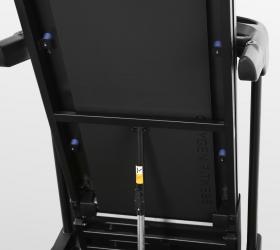 OXYGEN FITNESS NEW CLASSIC AURUM LCD Беговая дорожка - Великолепная амортизация: 4 плоских силиконовых эластомера (Natural S™) + 4 полноразмерных динамических эластомера (VCS™) + 1 поролоновая подушка