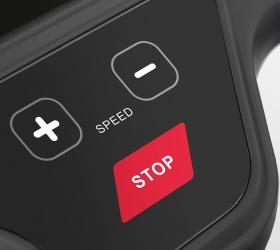 OXYGEN FITNESS NEW CLASSIC PLATINUM AC LED Беговая дорожка - Дополнительные сенсорные кнопки переключения наклона и скорости