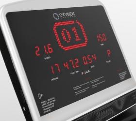 OXYGEN FITNESS NEW CLASSIC PLATINUM AC LED Беговая дорожка - 7-ми оконный буквенно-цифровой LED дисплей