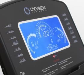 OXYGEN FITNESS NEW CLASSIC ARGENTUM LCD Беговая дорожка - 7 дюймовый (17,5 см) голубой многофункциональный LCD дисплей