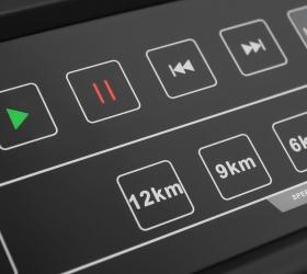 OXYGEN FITNESS NEW CLASSIC PLATINUM AC LED Беговая дорожка - Сенсорные кнопки управления