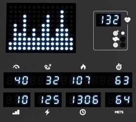 VISION U60 (U60-03) Matte Black Вертикальный велоэргометр - точечный белый LED дисплей + 6-ти оконный буквенно-цифровой LED дисплей