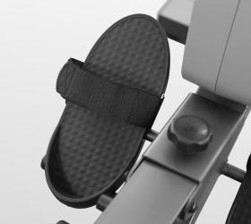 CARBON FITNESS R808 Гребной тренажер - Большие педали с фиксирующими ремешками