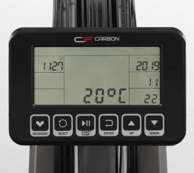 CARBON FITNESS R808 Гребной тренажер - Черно-белый LCD дисплей диагональю 5.5 дюйма (14 см.)