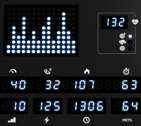 VISION R60 (R60-03) Matte Black Велоэргометр - Точечный белый LED дисплей + 6-ти оконный буквенно-цифровой LED дисплей