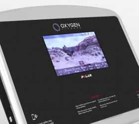 OXYGEN FITNESS NEW CLASSIC AURUM AC TFT Беговая дорожка - 10-ти дюймовый сенсорный цветной TFT дисплей