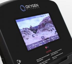 OXYGEN FITNESS NEW CLASSIC ARGENTUM TFT Беговая дорожка - 7-ми дюймовый сенсорный цветной TFT дисплей