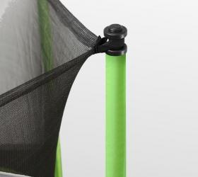 ARLAND Батут  6FT с внутренней страховочной сеткой и лестницей (Light green) - Система натяжения и крепежа защитной сетки