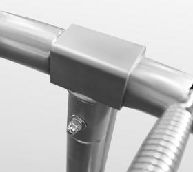 ARLAND Батут  8FT с внешней страховочной сеткой и лестницей (Light green) - T-Shaped Component™ - система крепления рамы и опор