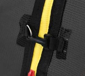 ARLAND Батут  8FT с внешней страховочной сеткой и лестницей (Light green) - Защитный карабин для четкой фиксации обеих частей сетки