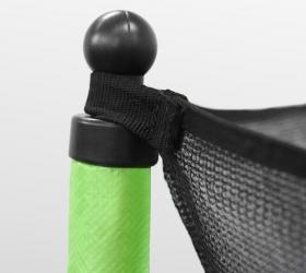 ARLAND Батут  8FT с внешней страховочной сеткой и лестницей (Light green) - Система натяжения и крепежа защитной сетки