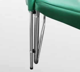 ARLAND Батут премиум 14FT с внутренней страховочной сеткой и лестницей (Dark green) - Система соединения W-образной опоры и верхних стоек