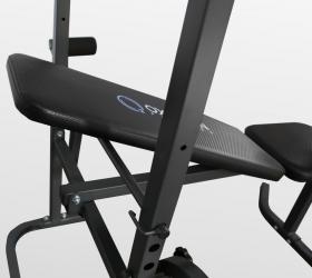OXYGEN FITNESS AKRON Скамья силовая черная - Эргономичное сиденье с поролоновой подушкой