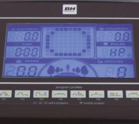 BH FITNESS PIONEER R7 Беговая дорожка - Голубой многофункциональный LCD-дисплей