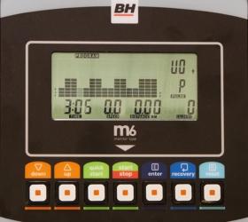 BH FITNESS POLARIS DUAL Велотренажер - Многофункциональный черно-белый LCD-дисплей M6