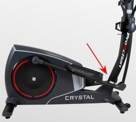 BH FITNESS CRYSTAL TFT Эллиптический тренажер - Легкий доступ к оборудованию