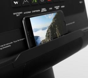 BRONZE GYM XE1200M PRO Эллиптический эргометр - Подставка под мобильные девайсы