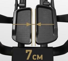 BRONZE GYM XE1200M PRO Эллиптический эргометр - Расстояние между педалями (супермалый Q-Фактор) 7 см