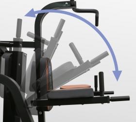 OXYGEN FITNESS VIKING Силовой комплекс - Складывание поручней брусьев