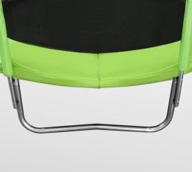 ARLAND Батут 12FT с внутренней страховочной сеткой и лестницей (Light green) - 4 устойчивые, оцинкованные W-образные опоры