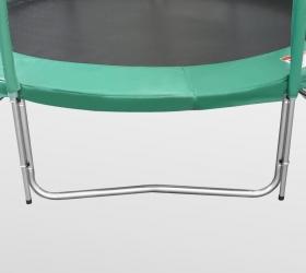ARLAND Батут премиум 8FT с внутренней страховочной сеткой и лестницей (Dark green) - 3 устойчивые, оцинкованные W-образные опоры с порошковой окраской