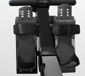 BRONZE GYM RW1200M PRO Гребной тренажер - Упорные платформы для ног с регулируемыми ремешками