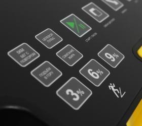 BRONZE GYM T1200M PRO Беговая дорожка - Русифицированные сенсорные кнопки управления