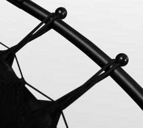 ARLAND Мини батут с защитной сеткой - 30 эластичных шнуров для натяжения полотна