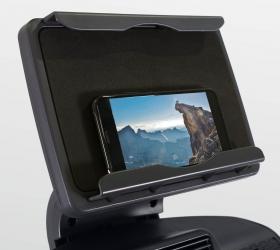BRONZE GYM E1000M PRO TURBO Эллиптический тренажер - Съемный держатель для мобильных устройств