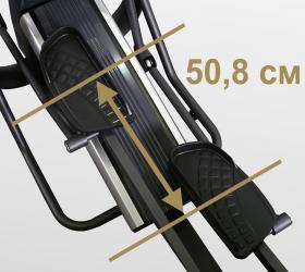 BRONZE GYM E1000M PRO TURBO Эллиптический тренажер - Длина шага 50,8 см