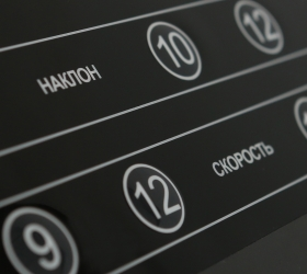 BRONZE GYM T1000M PRO TURBO Беговая дорожка - Русифицированные сенсорные кнопки управления