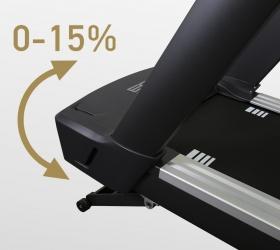BRONZE GYM T1000M PRO TURBO Беговая дорожка - Автоматически изменяемый угол наклона от 0 до 15%